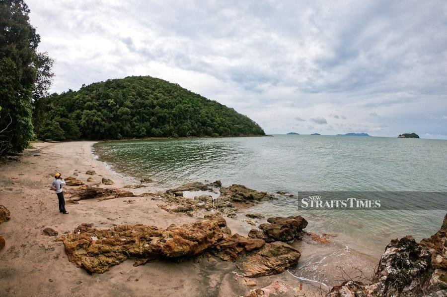 Teluk Buih's secluded bay