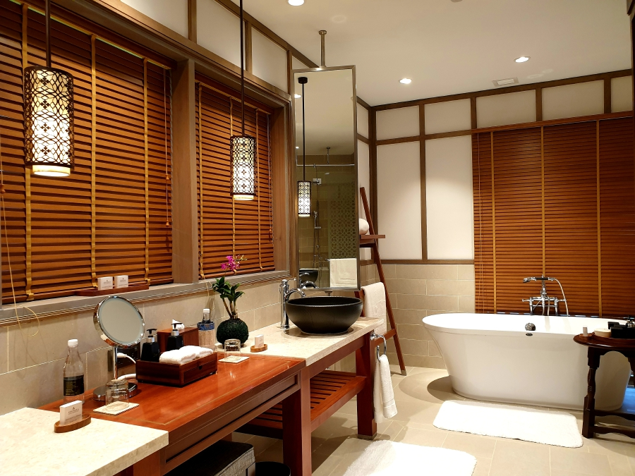 The ensuite bathroom is like a room of its own.