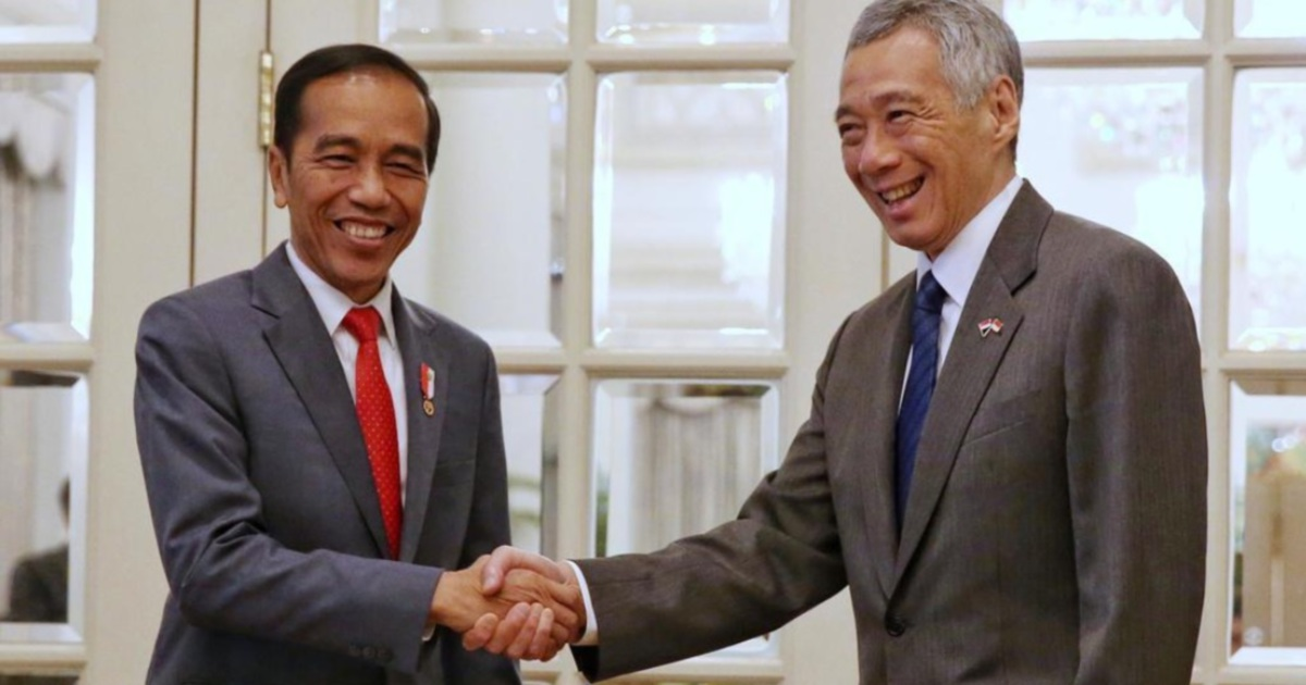Singapore PM Lee in Jakarta for Jokowi's second inauguration