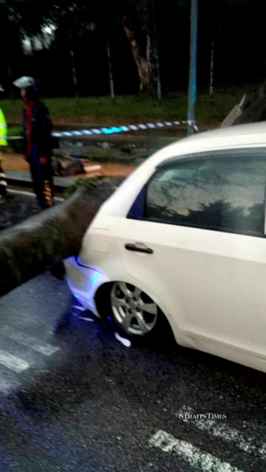 A badly damaged Proton Saga BLM. - NSTP/Courtesy of NST reader