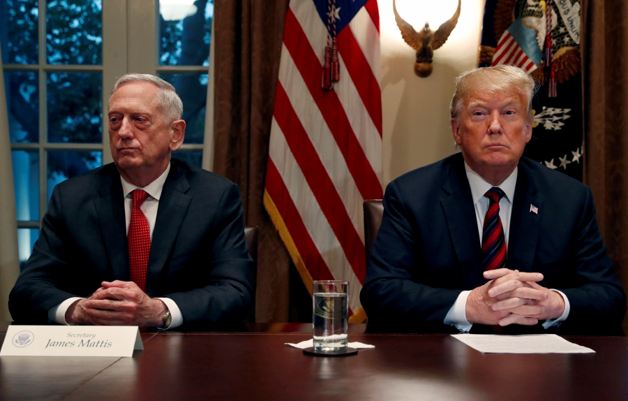 Image result for photos of general mattis trump