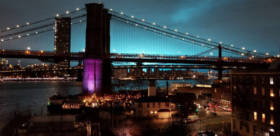 Blue sky at night lights up social media in New York | New