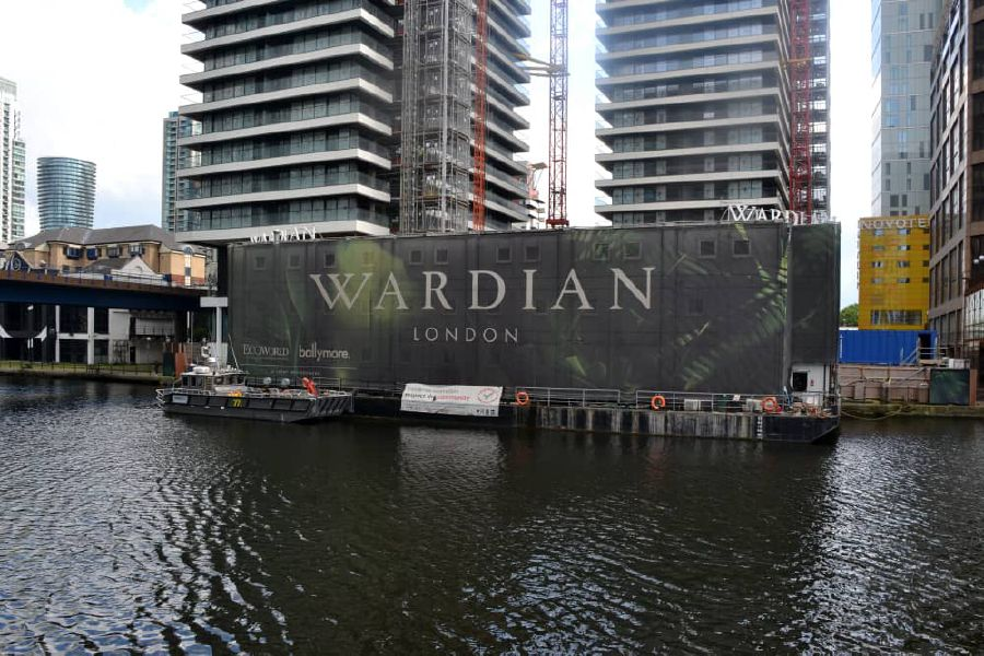 EWI's 75 per cent-owned subsidiary EcoWorld-Ballymore is developing the £566 million Wardian London, overlooking London's financial centre Canary Wharf.