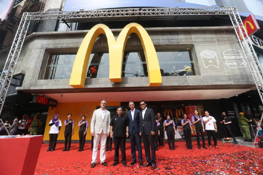 The McDonalds Bukit Bintang grand opening event held at Kuala Lumpur today. Pix by Rohanis Shukri