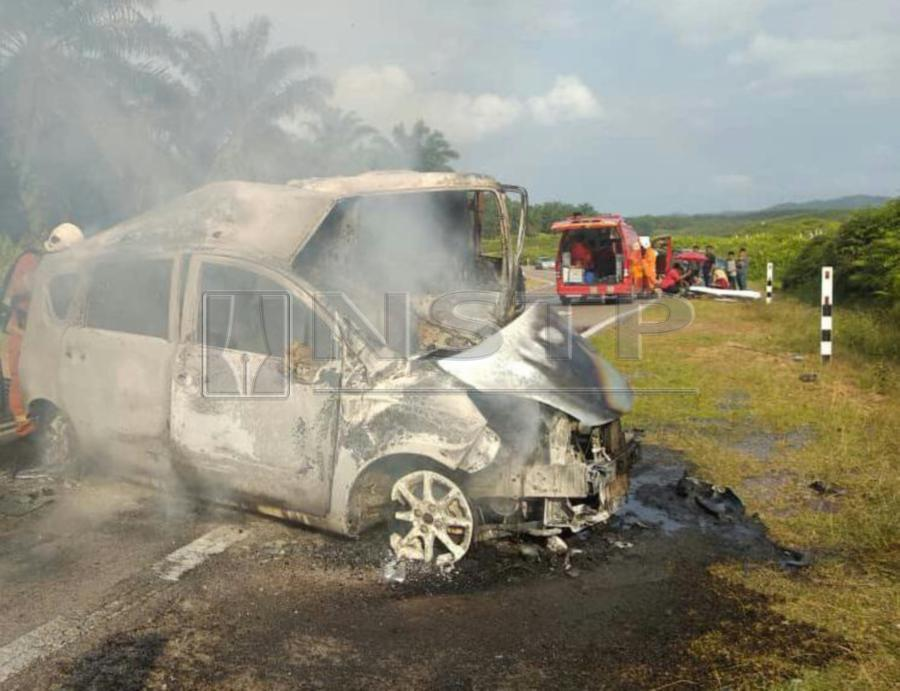 One charred, two break legs in mishap in Mersing | New Straits Times