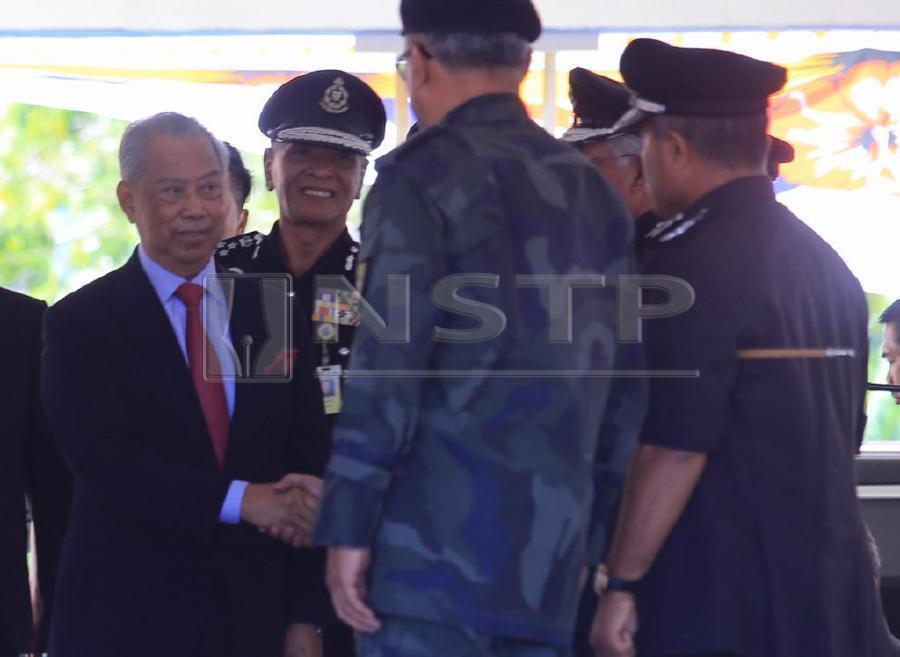 Parti Pribumi Bersatu Malaysia (PPBM) president Tan Sri Muhyiddin Yassin (left) at Semenyih today. Pix by NSTP/Mohd Yusni Ariffin