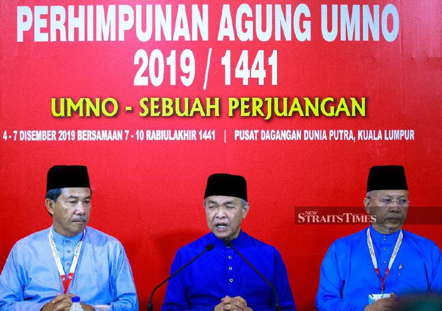 Umno president Datuk Seri Dr Ahmad Zahid Hamidi said Umno and Pas would jointly administer the secretariat which will be based at Umno's headquarters in Putra World Trade Center (PWTC). - NSTP/ASYRAF HAMZAH