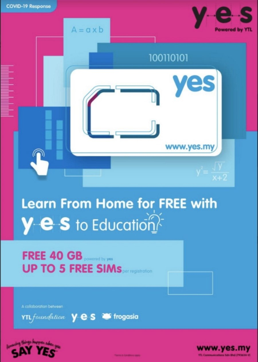 Ytl Offers Free Data And E Learning From Home For Government School Students