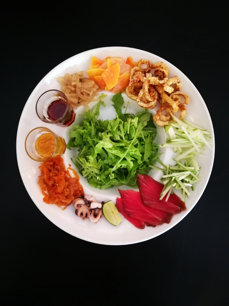 A colourful Yee Sang to usher in a new year.