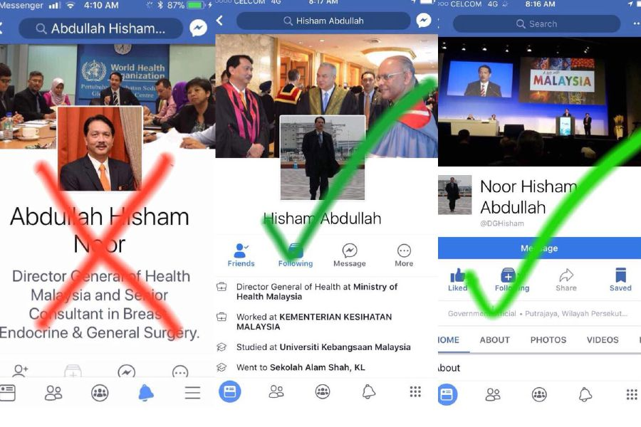 Not News To Malaysia Health Imposter Warns New And General Times Him Fake Account Does Of Sports Belong Facebook Dg Lifestyle Straits Business On