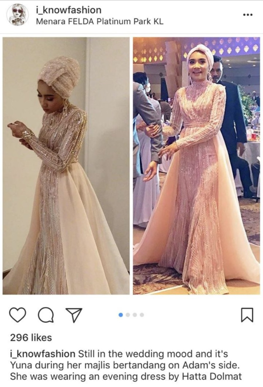 Showbiz Yuna Defends Her Wedding Outfit And Its Designer New