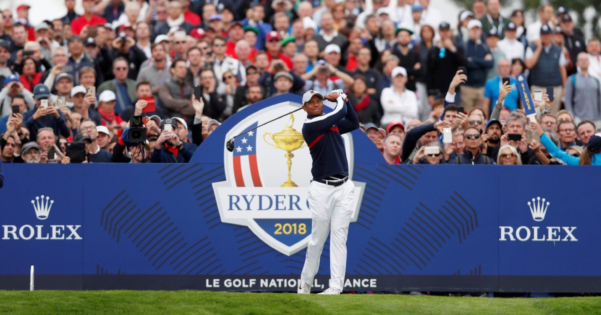 tiger tees off as americans chase rare european win in