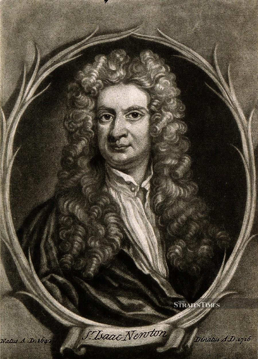 Sir Isaac Newton (Image by Wikipedia Commons).