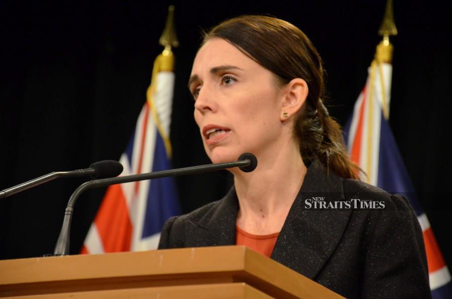 Prime Minister Jacinda Ardern addresses media in Wellington, New Zealand. - EPA