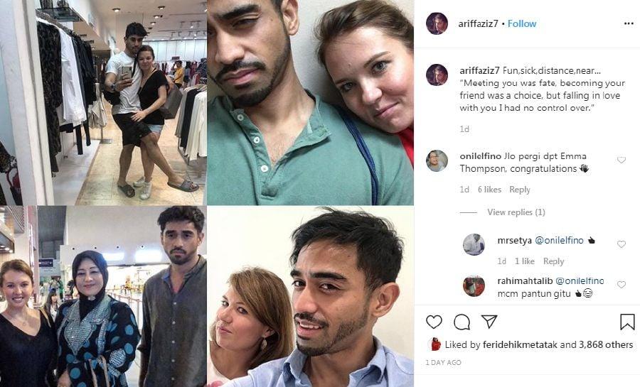 A screenshot from Ariff's IG. — Instagram/AriffAziz7