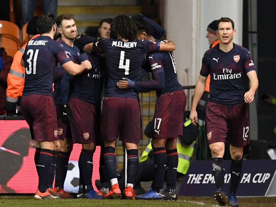 b98ed3a9b93 Arsenal will host Manchester United in the 4th round of the FA Cup. - AFP