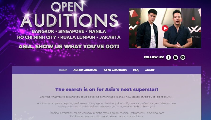 Showbiz: Asia's Got Talent open auditions on July 8 | New