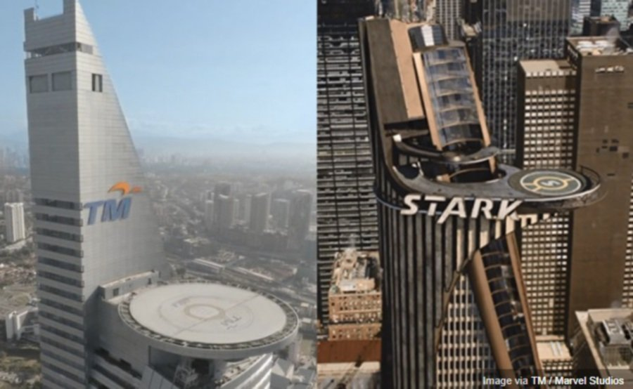 tm tower transforms into avengers stark tower local fans go