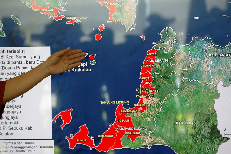 Anak Krakatau eruption poses no danger to Malaysia ... on myanmar on a map, samoan islands on a map, guangxi on a map, nepal on a map, singapore on a map, the sudan on a map, santa domingo on a map, southern india on a map, waziristan on a map, east timor on a map, heard island on a map, syria on a map, st john island on a map, world map, siam on a map, bangladesh on a map, sri lanka on a map, the seychelles on a map, kabul river on a map, dr congo on a map,