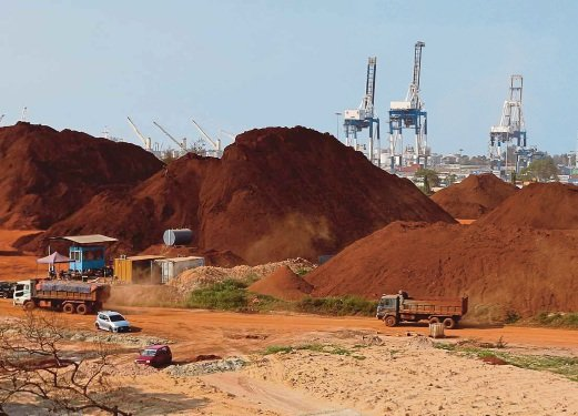 Bauxite residue can clog drains and cause landslides