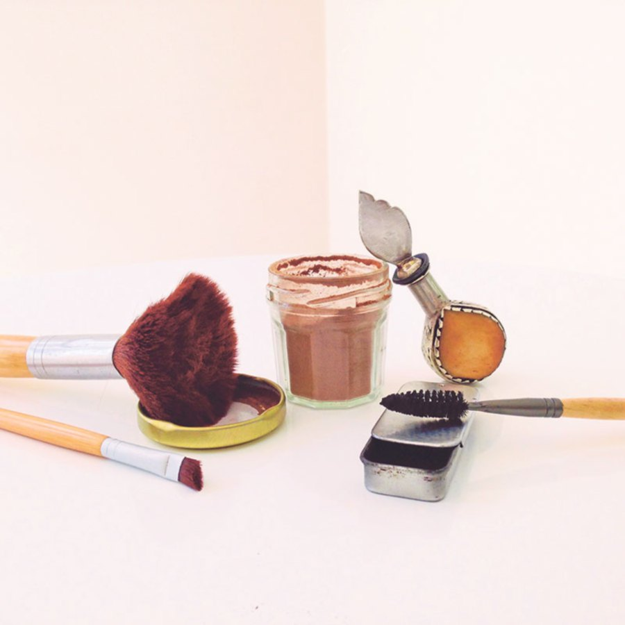 Cosmetics that Johnson makes at home.