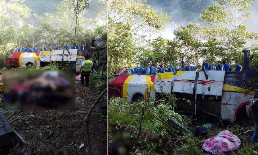 Updated) 25 dead, 24 hurt after bus falls into ravine in Bolivia