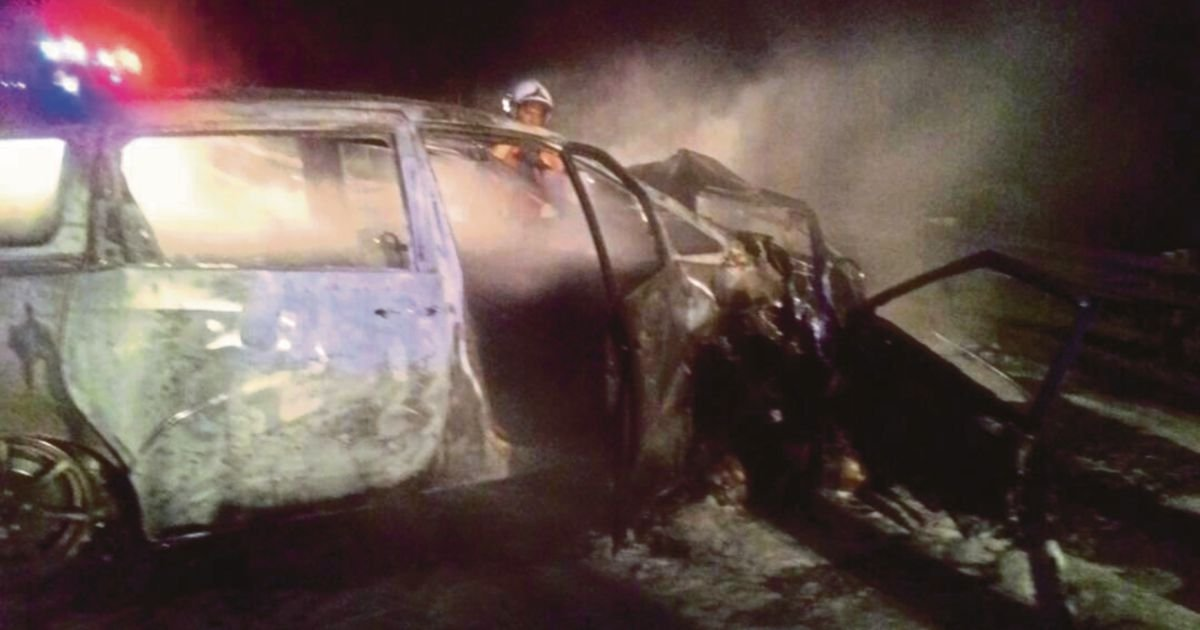 Man burns to death; woman run over in 2 grisly Perak traffic accidents