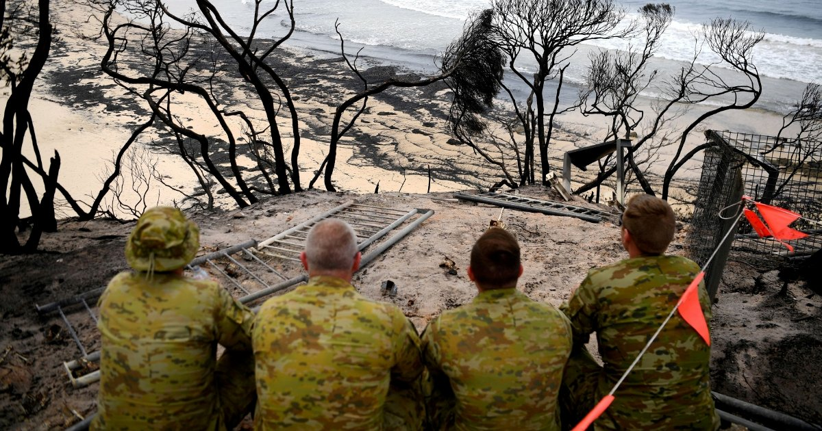 Fire-hit Aussie town has navy deliver... emergency beer