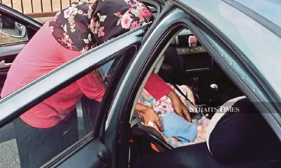 A child's body temperature could rise three to four times faster than an adult's, and the temperature in a car can rise to 52°C within 20 minutes when the temperature outside is about 34°C. -NSTP/File pic