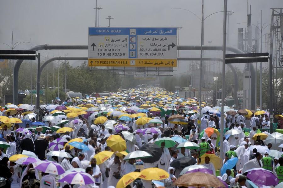 Some 2 5 million haj pilgrims scale Mount Arafah   New Straits Times
