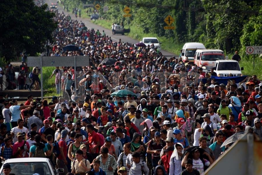 Image result for us mexico caravan images