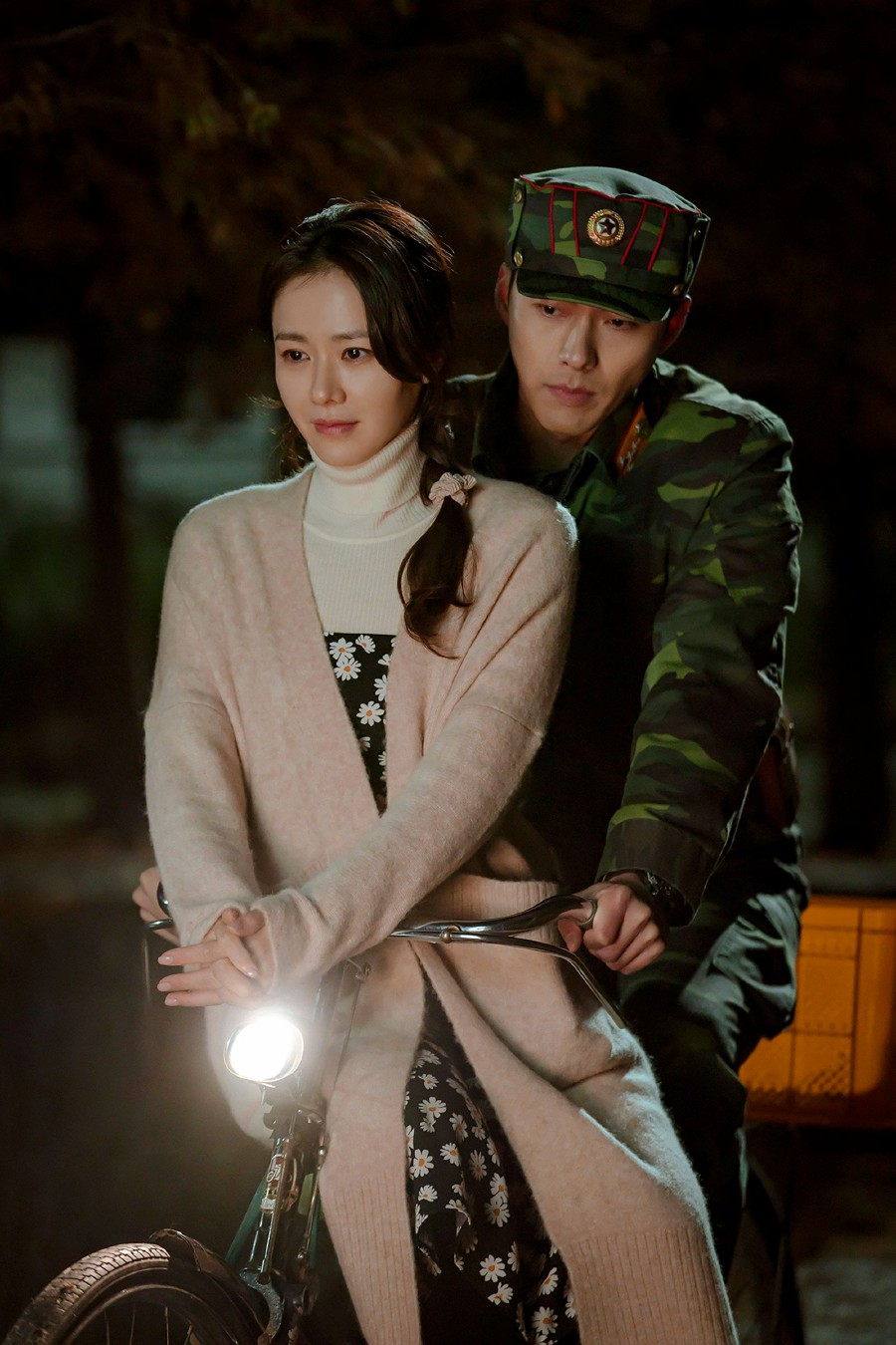"""This undated handout picture provided on February 13, 2020 by South Korean cable television network, tvN, in Seoul shows a scene from television drama series """"Crash Landing on You"""" starring actress Son Ye-jin and actor Hyun Bin. -AFP/tvN"""