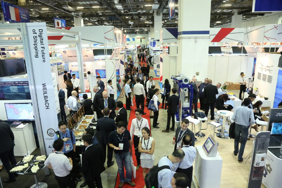 The exhibition, which will run from March 14 to 16 in Singapore, is expected to present plenty of opportunities for local maritime players to develop the maritime industry. Pic courtesy of Asia Pacific Maritime.