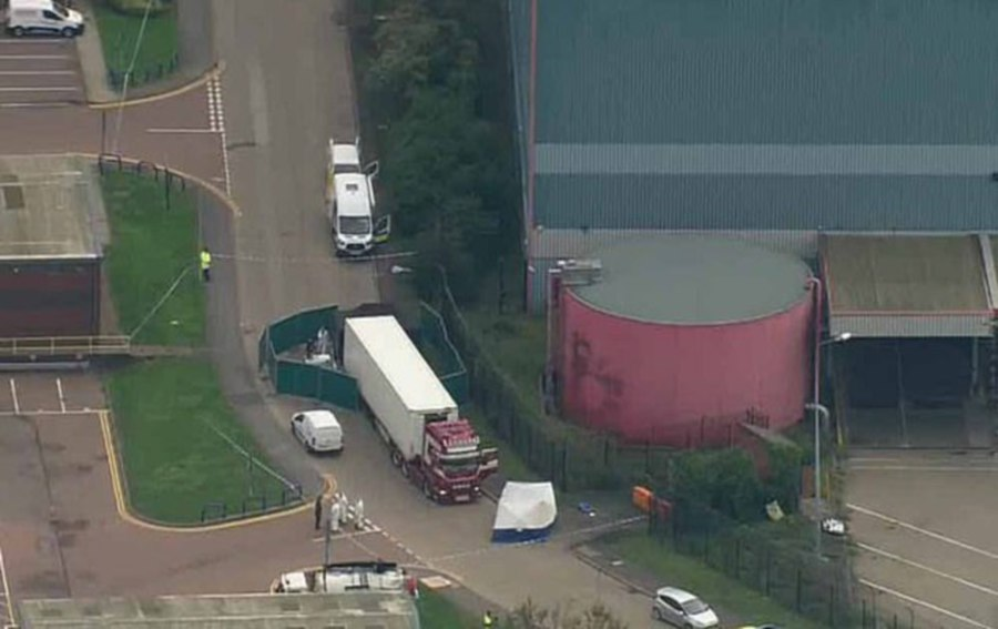 Police discovered the trailer at the Waterglade Industrial Park in Grays, about 20 miles from central London. - DailyMail