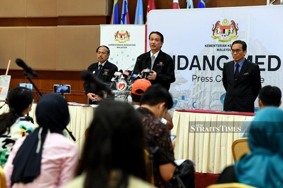 Health DG Datuk Dr Noor Hisham Abdullah addresses the media over the latest on the Covid-19 outbreak, during a press conference in Putrajaya. - BERNAMA pic