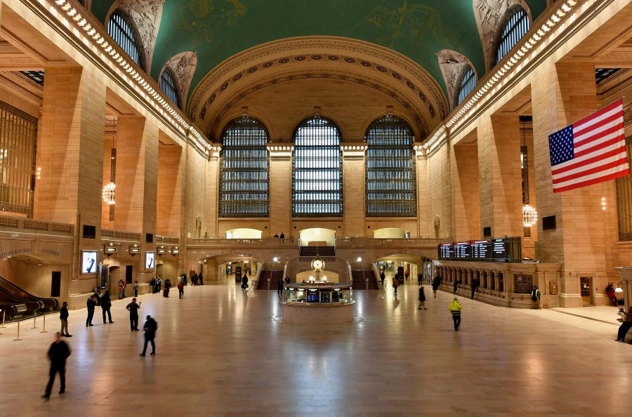 The usually busy Grand Central Station is seen nearly empty on March 25, 2020 in New York City. - AFP pic