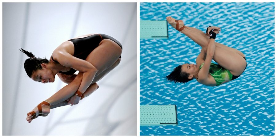 Pandelela Rinong (left) finished fourth in the women's 10m platform at the Beijing leg of the World Series on Sunday, while Cheong Jun Hoong failed to make an impression in her first outing in the event since winning the world title in Budapest last year. (NSTP file pic)