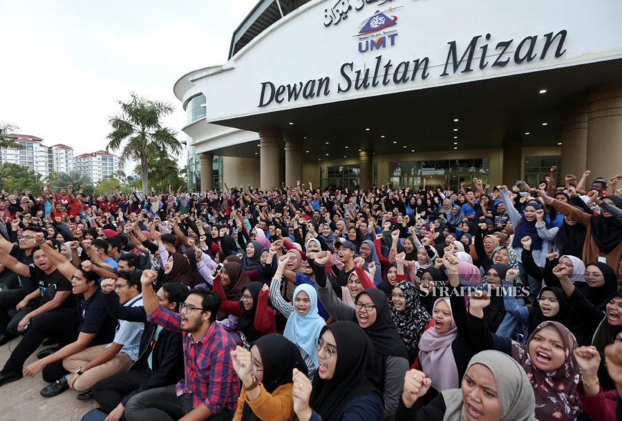 Undergraduates protest to the merger due to three main reasons - loss of identity, different fields of specialisation and waning autonomy.- NSTP/Ghazali Kori