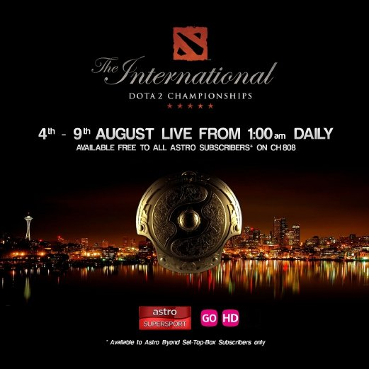 Dota 2 tournament TI5 live on Astro starting Aug 4 | New