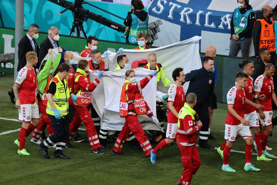 Euro 2020: Denmark vs Finland suspended after Christian Eriksen collapses on pitch
