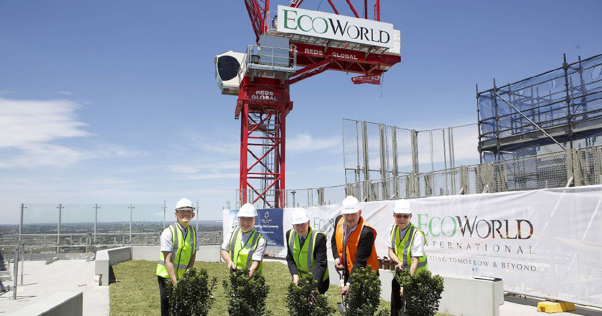 EcoWorld celebrates topping out of West Village