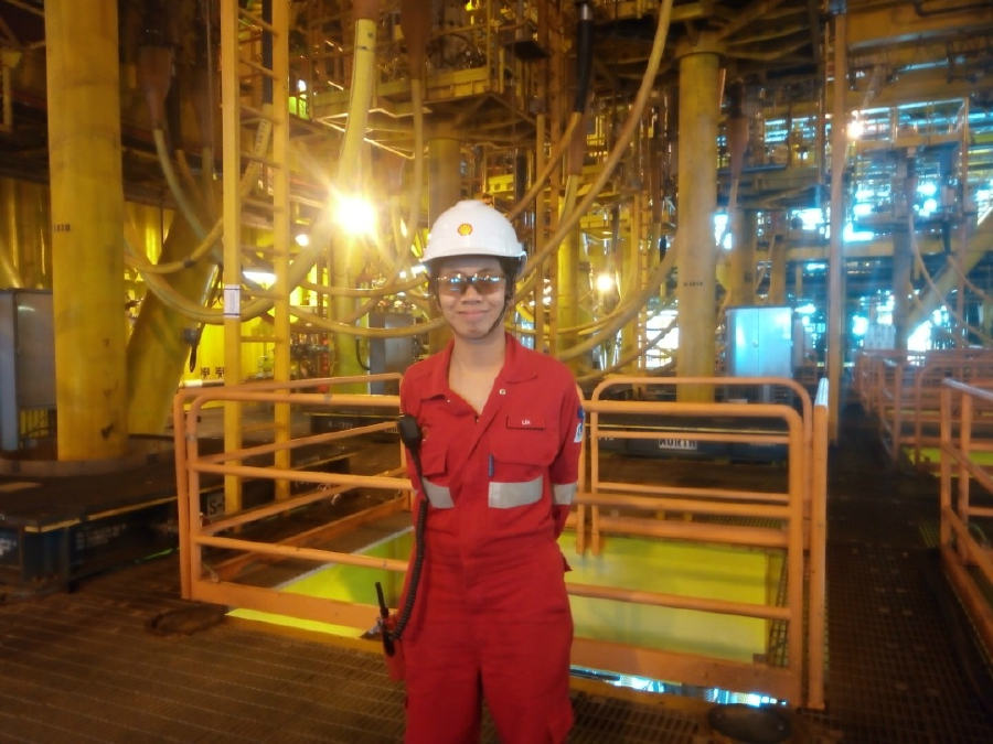 Lea Natasha Ribin who received Shell scholarship is an offshore installation manager today.