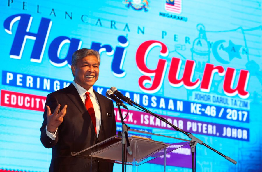 Deputy Prime Minister Datuk Seri Dr Ahmad Zahid Hamidi said today that it is important to impart knowledge and skills that will boost the capabilities of the local workforce. Pic by NSTP/HAIRUL ANUAR RAHIM