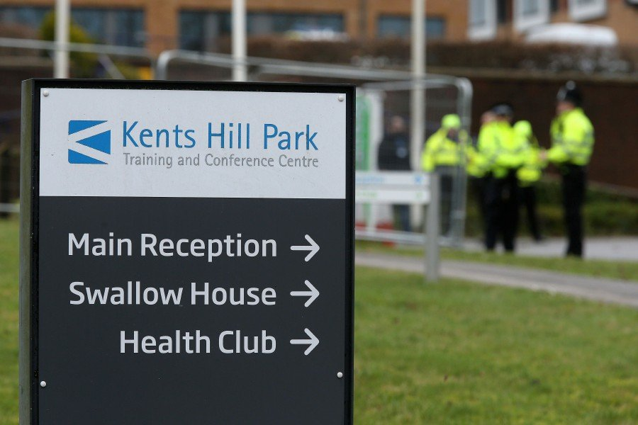 Kents Hill Park conference centre and hotel is pictured in Milton Keynes, north of London where British nationals repatriated from Wuhan, China, are being taken to be kept in isolation and monitored for 2019-nCoV strain of the novel coronavirus. -AFP