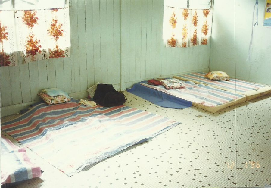 There were no proper hospital beds but the basic facilities were accepted by the community