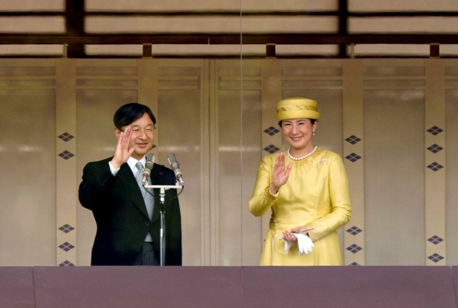 Japan's new emperor urges world peace in first public speech