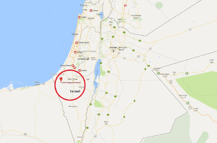 Rocket Fired From Egypt Hits Israel Crossing Shut New Straits - Map of egypt israel