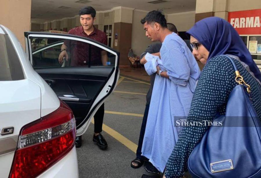 One of the injured victim is seen leaving the Putrajaya Hospital. - NSTP/NOOR ATIQAH SULAIMAN