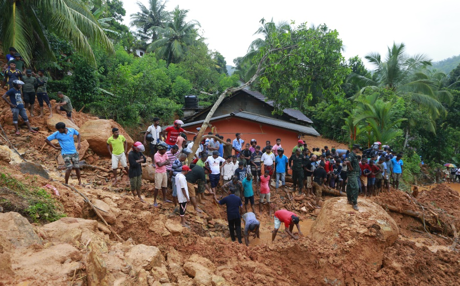 Image result for Sri Lanka landslides, floods kill at least 25; dozens missing, Floods and landslides in