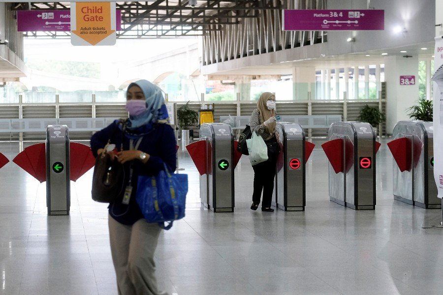 A view of the ERL station in Putrajaya, amid the 14-day MCO. - BERNAMA pic